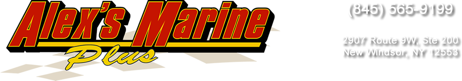 Alex's Marine Plus Logo